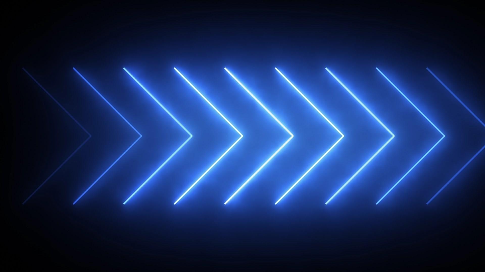 Neon Blue Designer Aesthetic Wallpaper