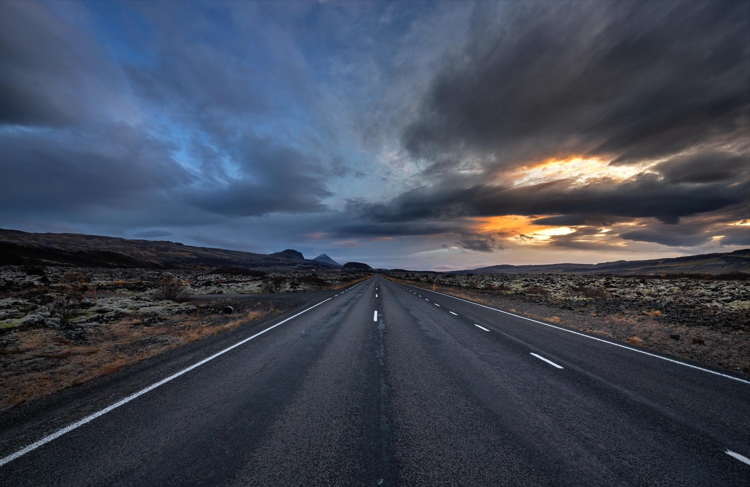 Cloudy Empty Road Wallpapers Wallpaper Cave