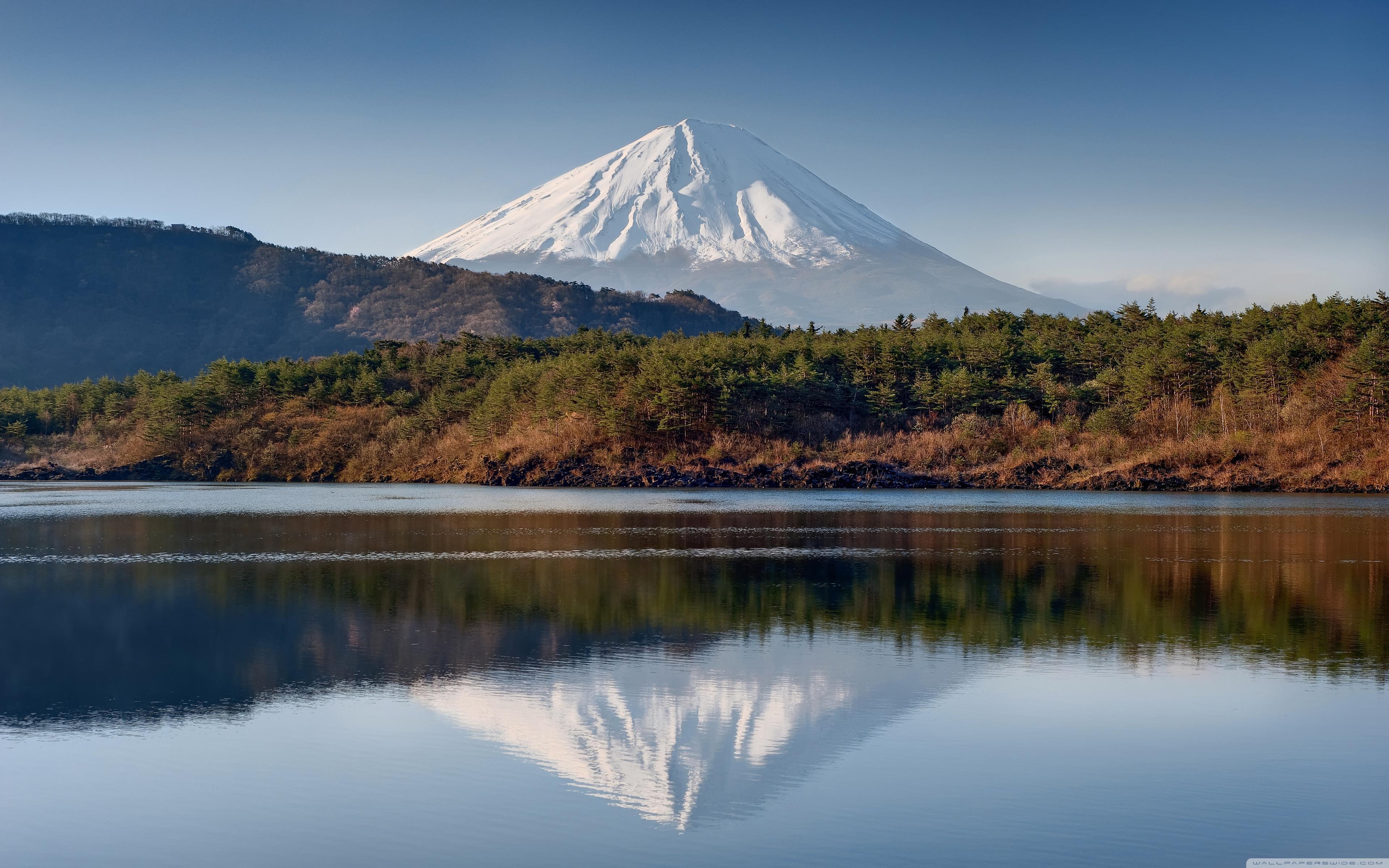 Mount Fuji Reflection Wallpapers Wallpaper Cave