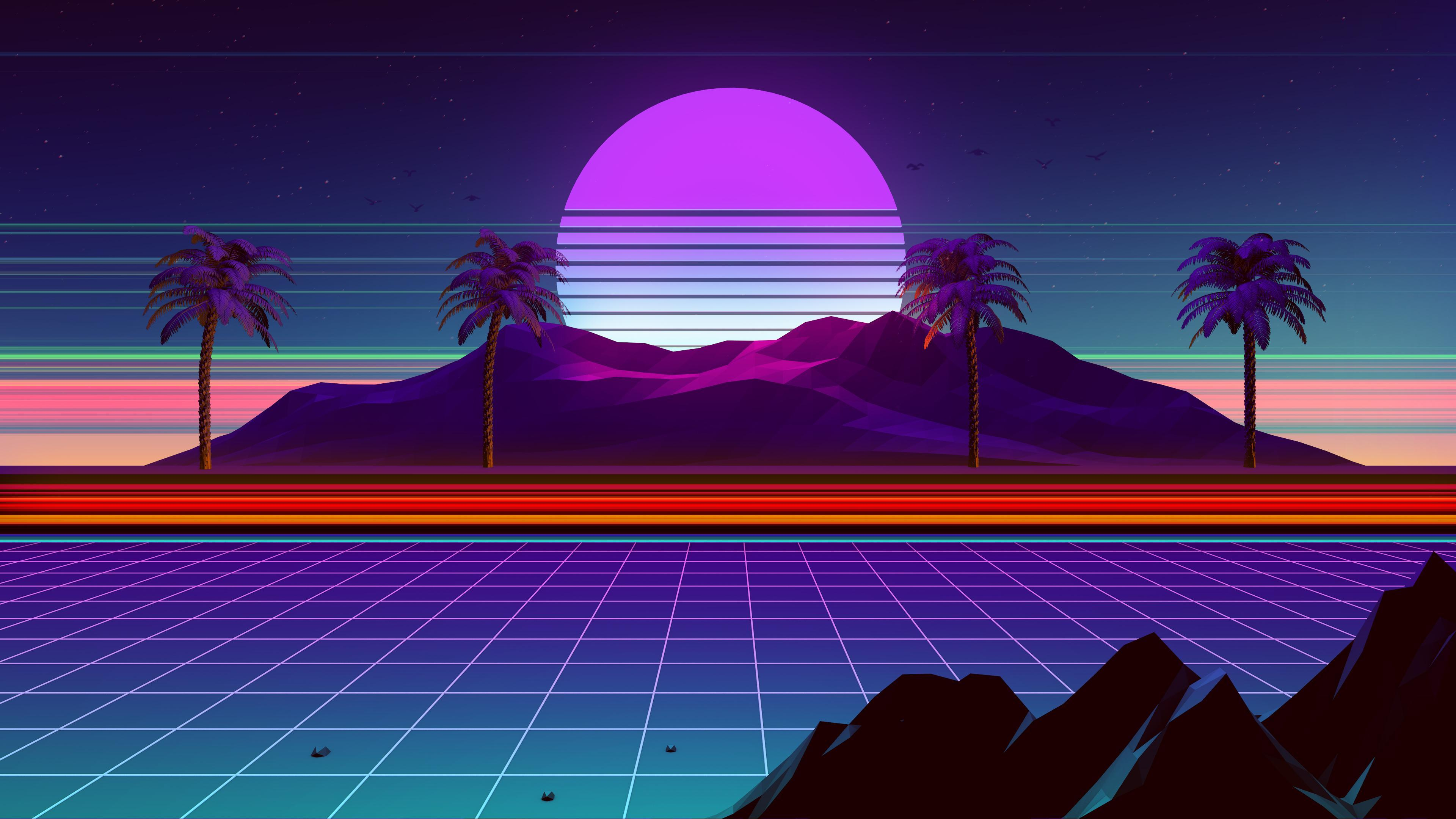 retro synthwave 4k wallpapers wallpaper cave retro synthwave 4k wallpapers