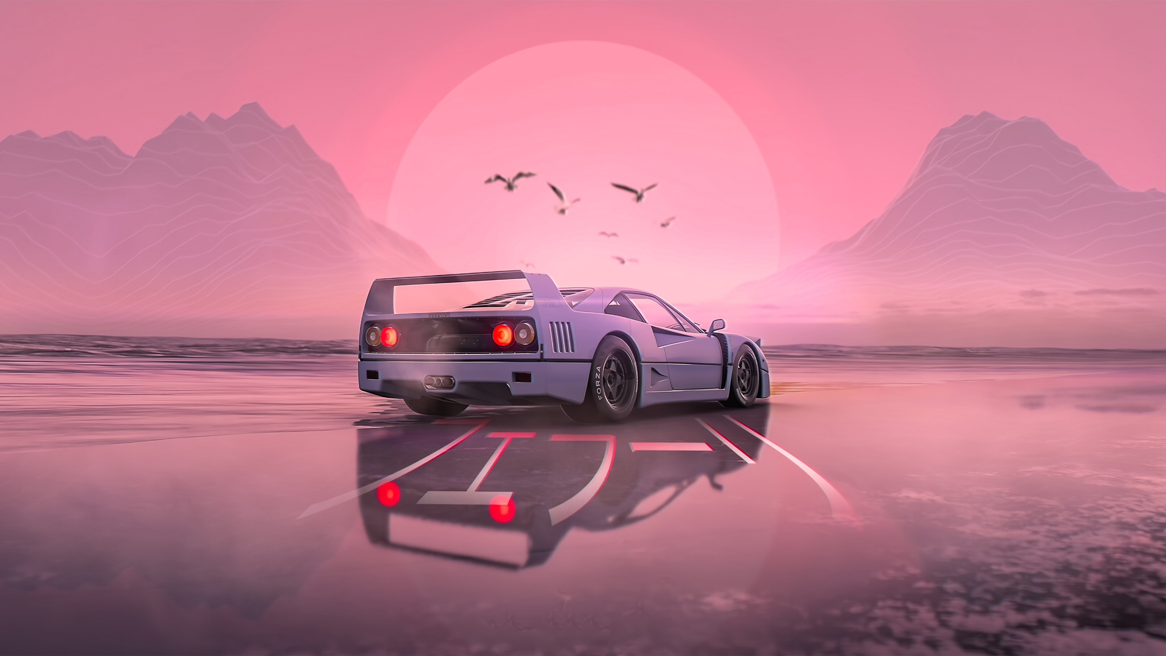 Retro Wave Cars Wallpapers Wallpaper Cave
