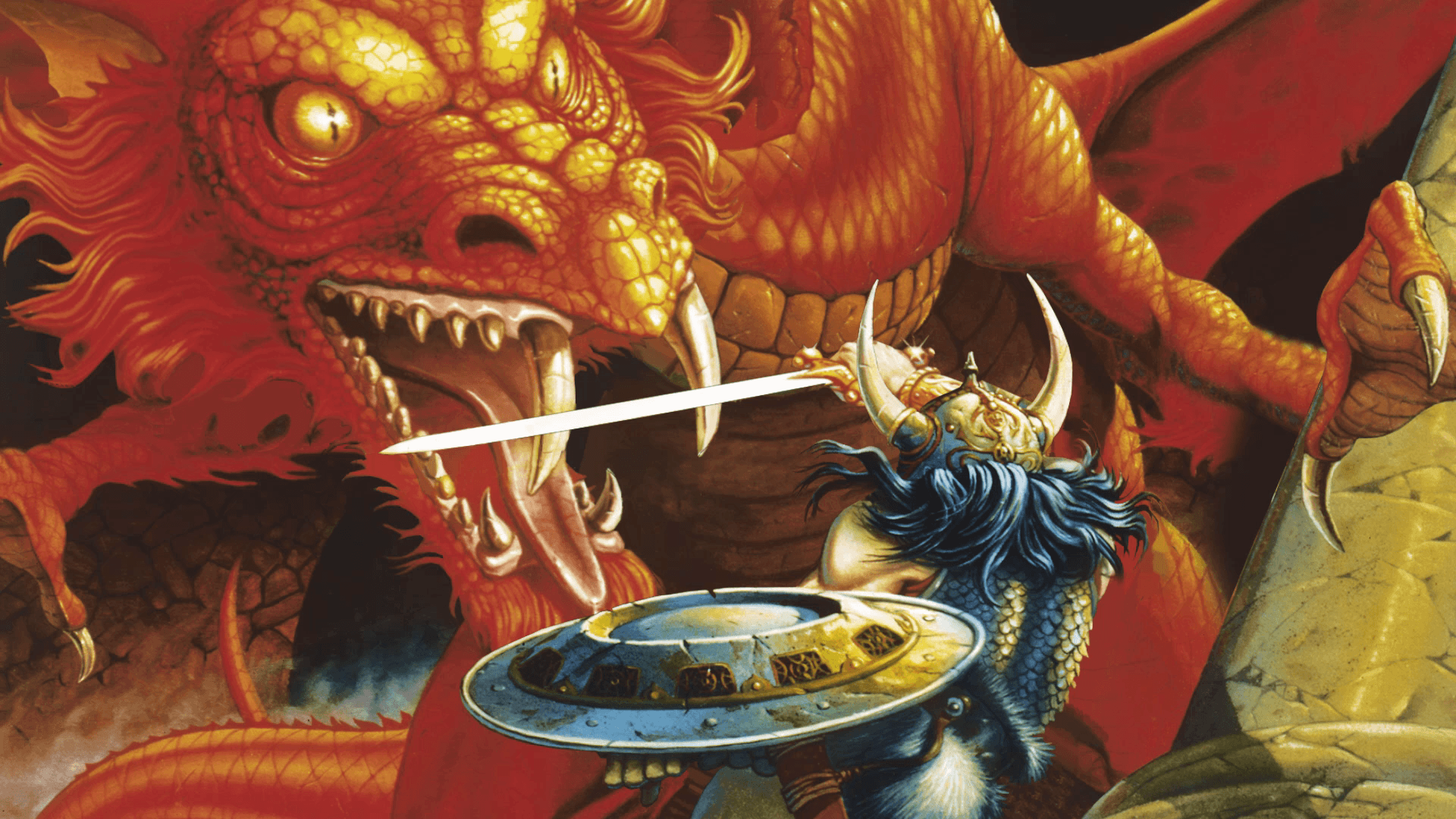 Dungeons And Dragons Retro Art Wallpapers - Wallpaper Cave