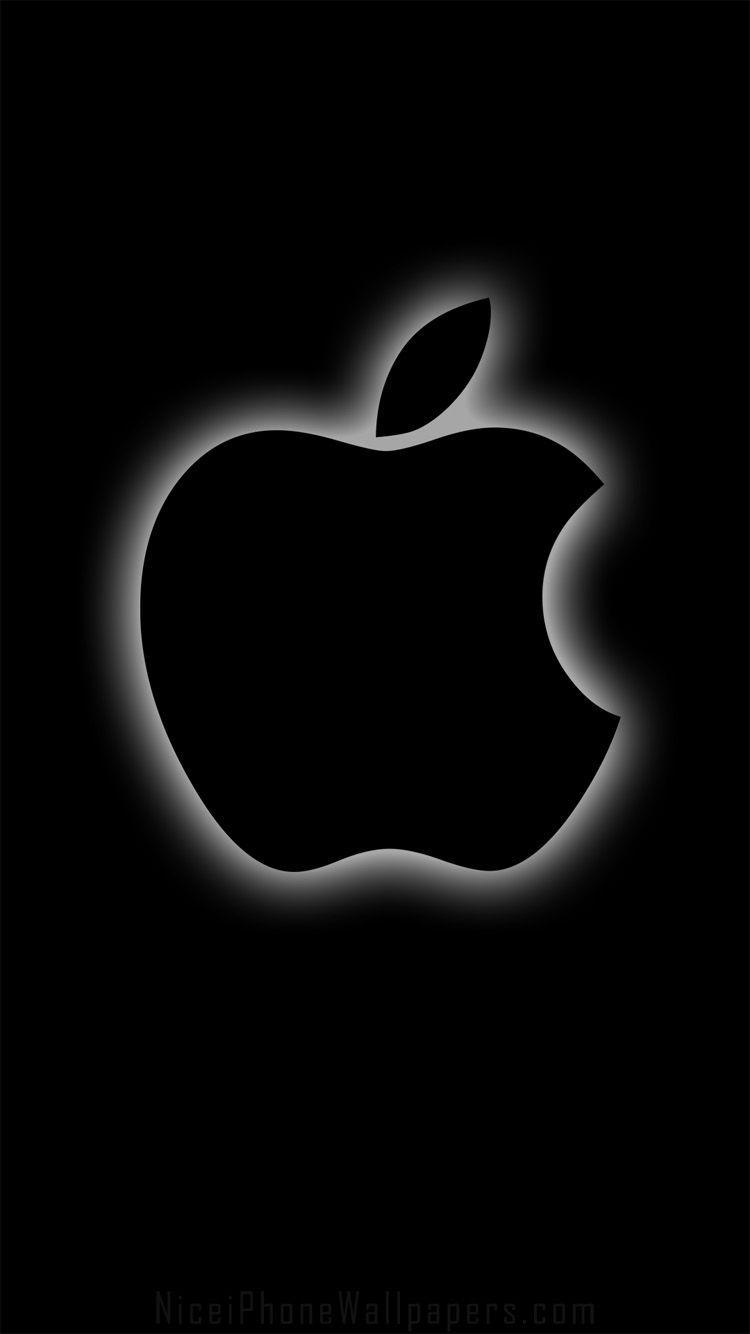 Iphone Logo Black Wallpapers Wallpaper Cave