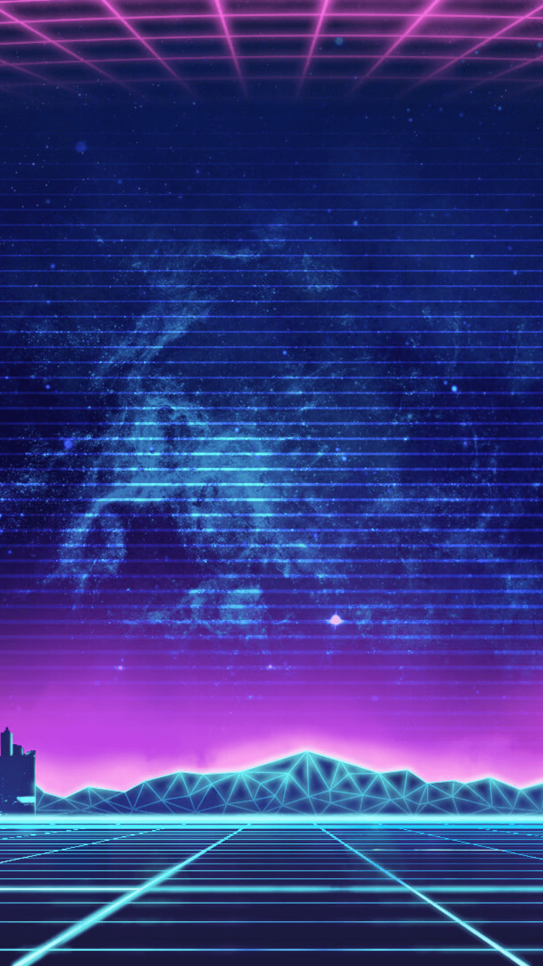 Retro Synthwave Iphone Wallpapers Wallpaper Cave
