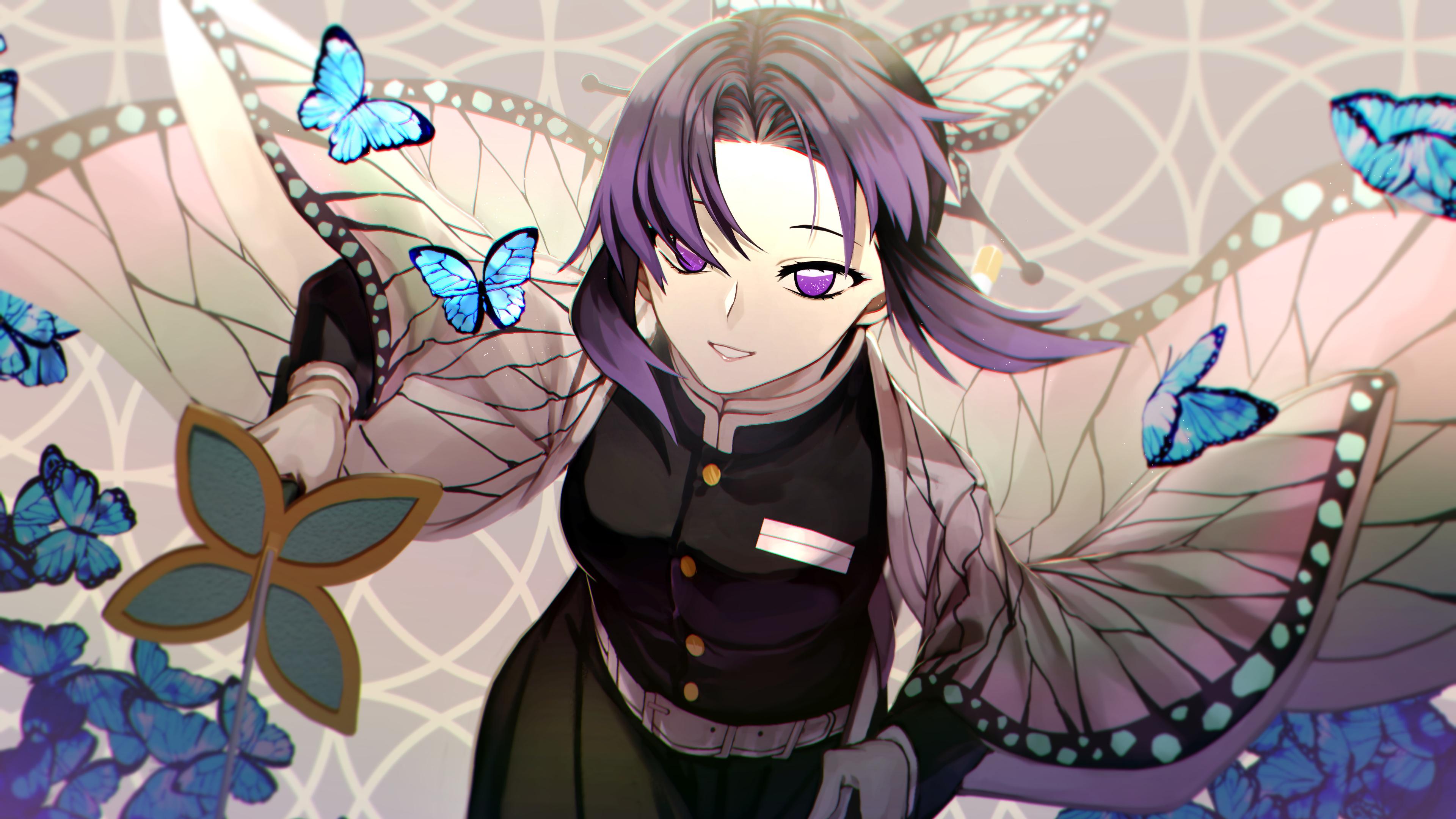 18++ Kochou Shinobu Wallpaper Anime Kimetsu No Yaiba Hd Android