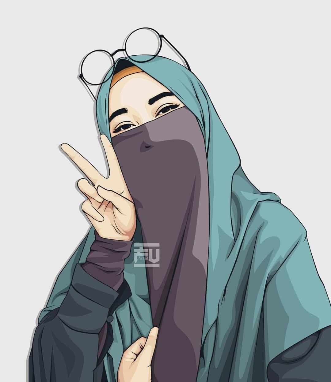 Aesthetic Hijab Girl Anime Wallpapers - Wallpaper Cave