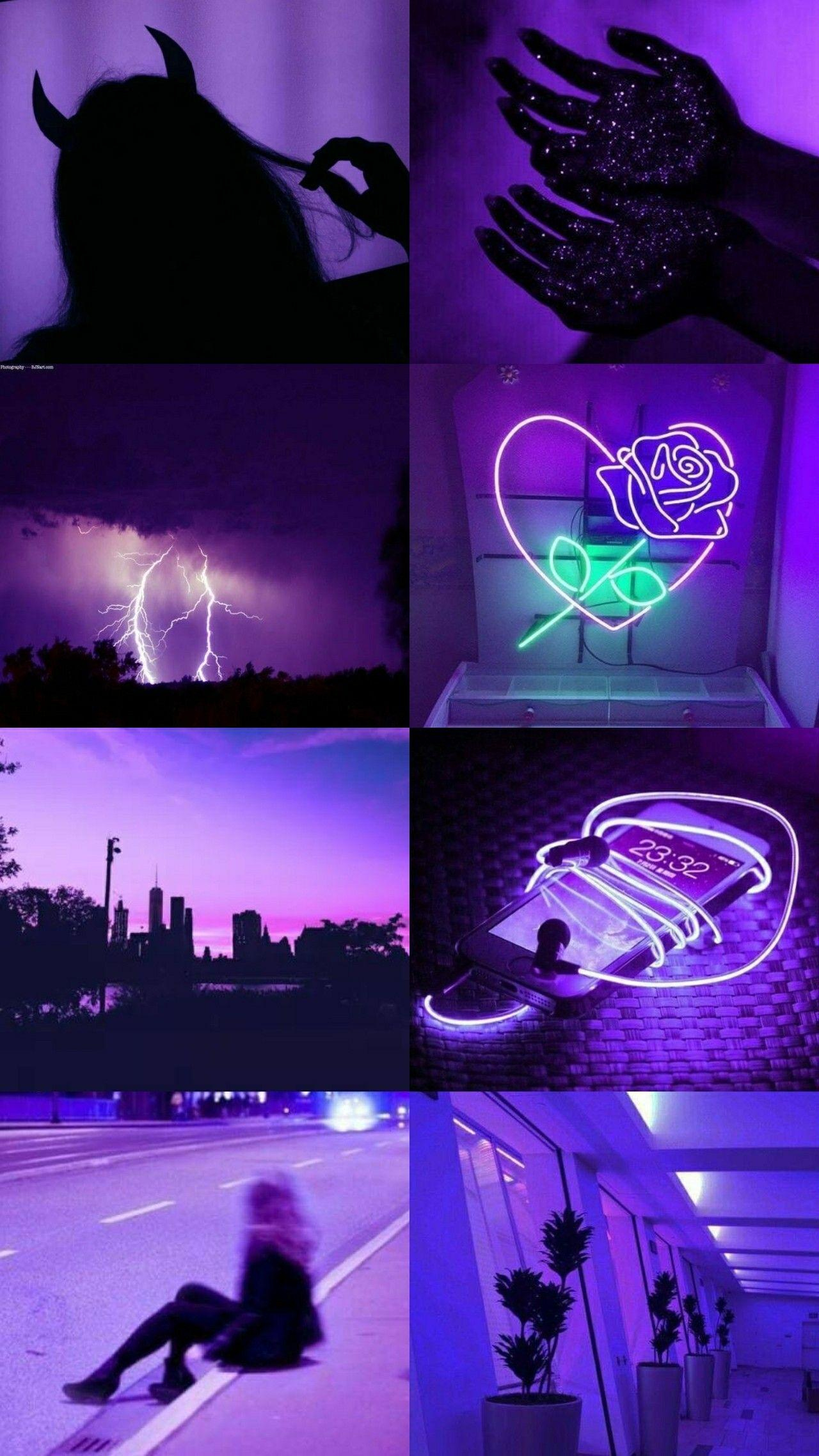 aesthetic purple with words wallpapers