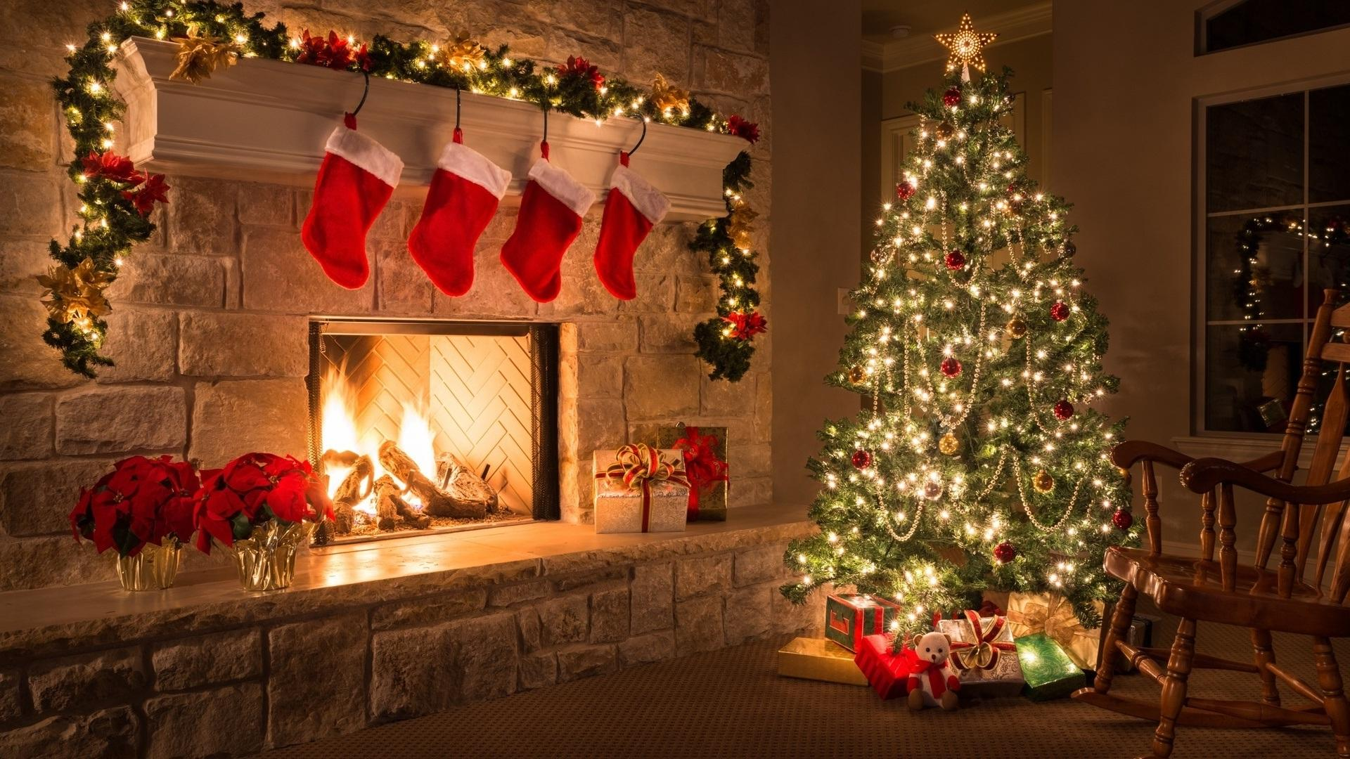 Christmas Home Wallpapers Wallpaper Cave