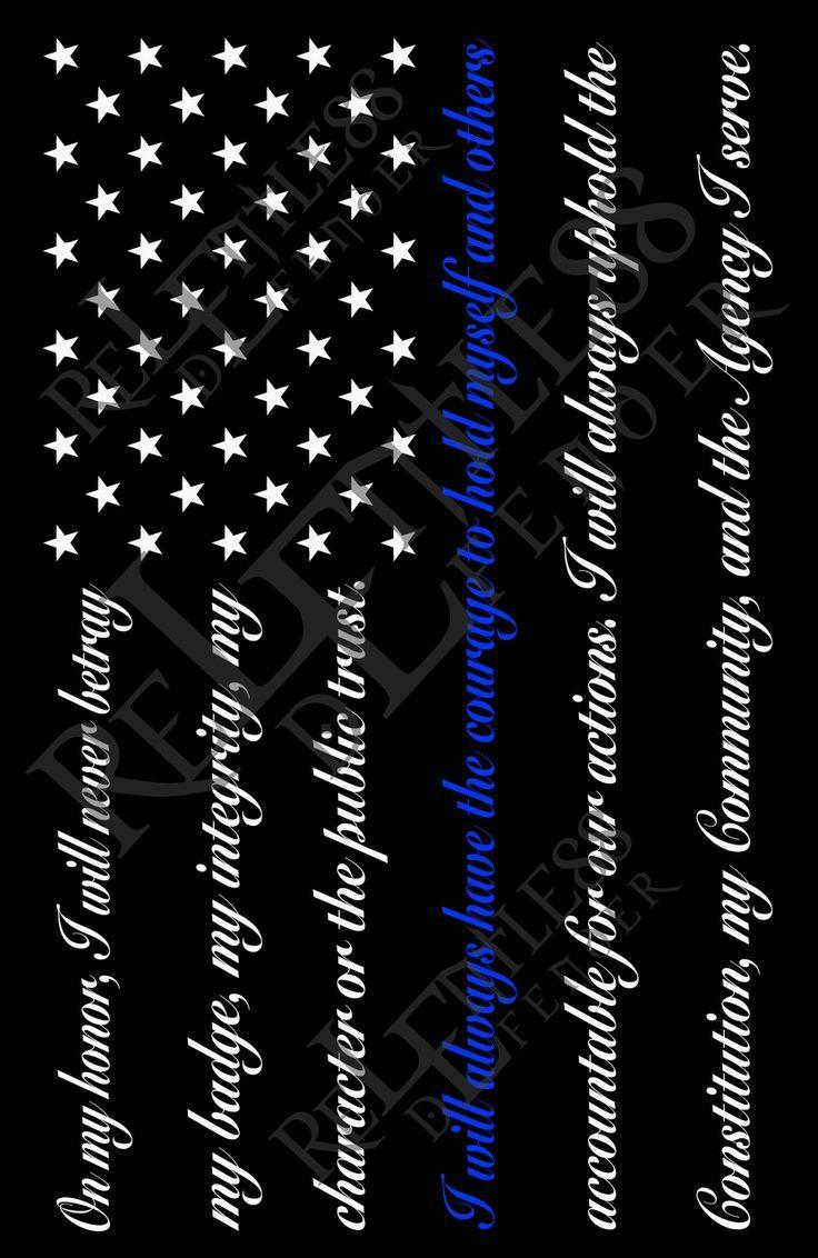 Thin Blue Line Flag Wallpapers Wallpaper Cave