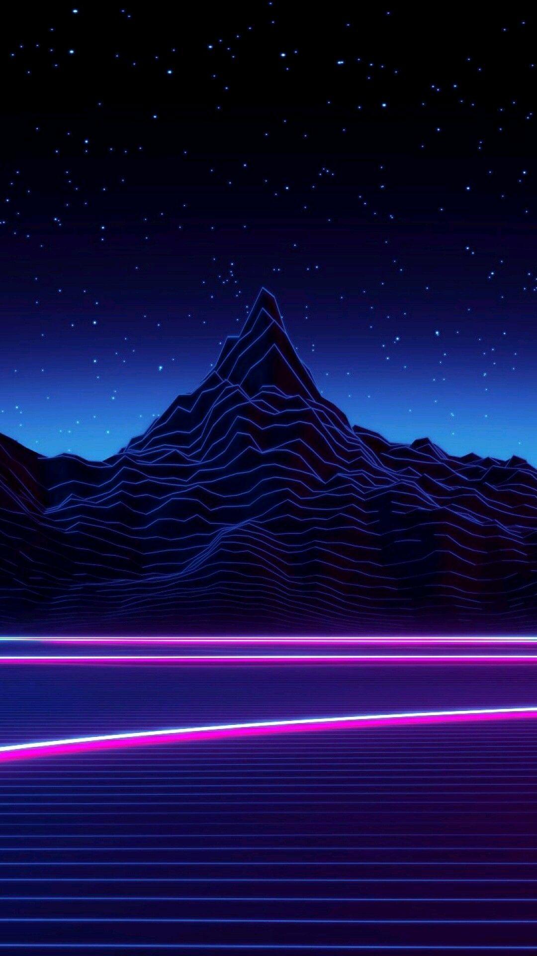 Phone Vaporwave Mountain Wallpapers - Wallpaper Cave