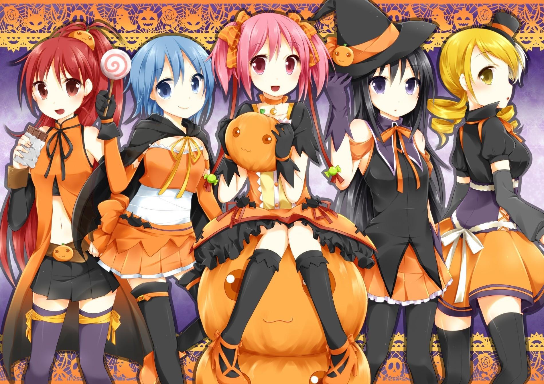 2900508 anime girls mahou shoujo madoka magica halloween
