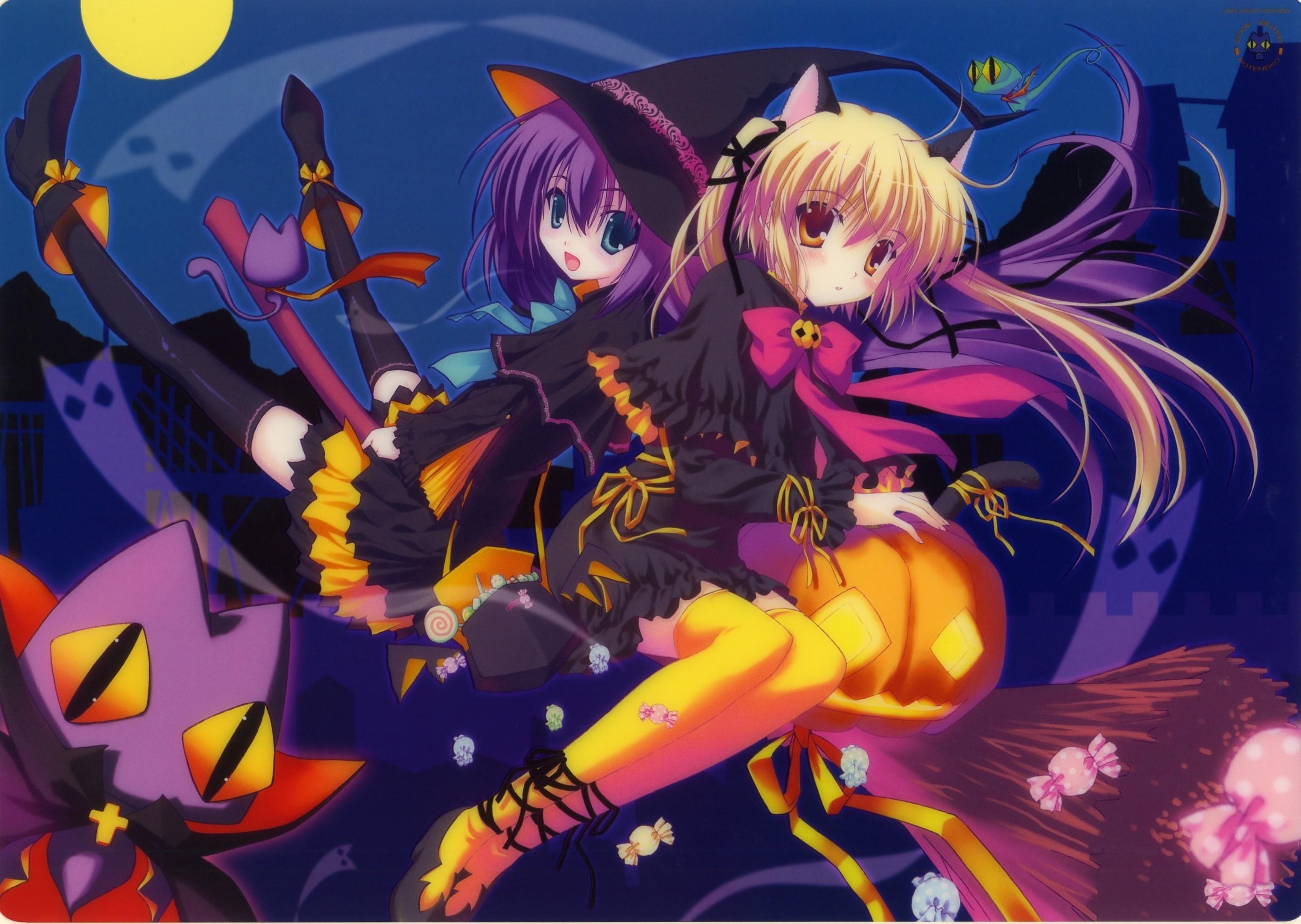 63+ Anime Halloween Wallpapers