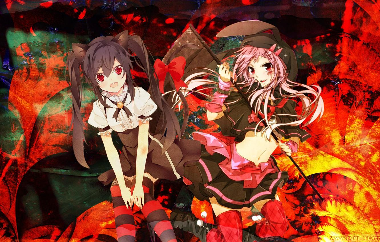 Wallpapers girls, anime, Halloween, death scythe image for