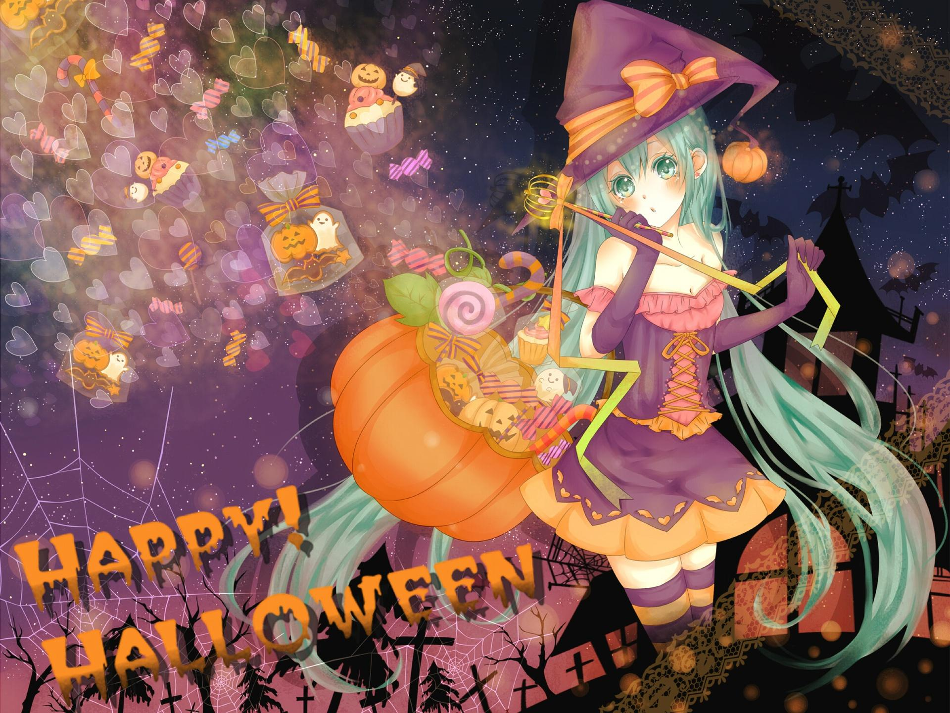 Wallpapers Halloween anime girl 1920x1440 HD Picture, Image