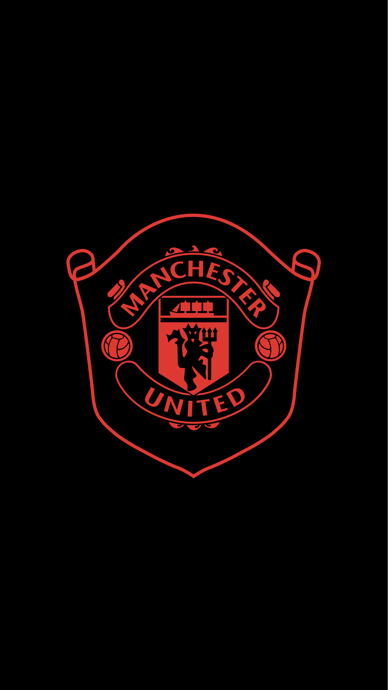 Manchester United Dark Phone Wallpapers Wallpaper Cave