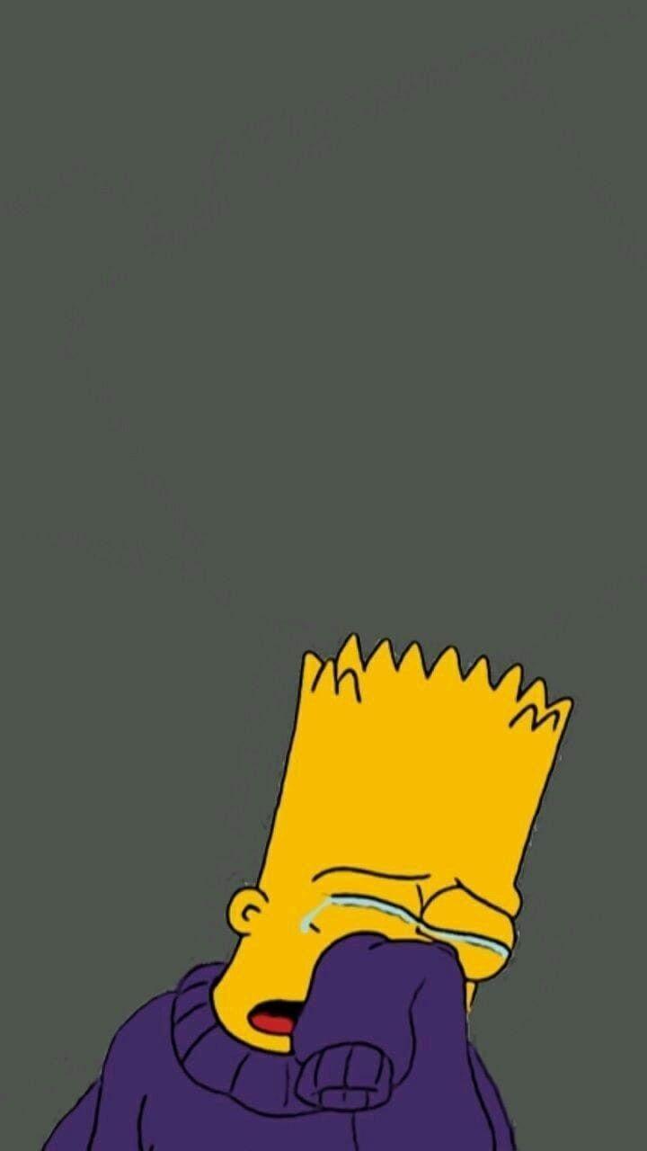 Aesthetic Sad Depression Cartoon Character Wallpapers Wallpaper Cave