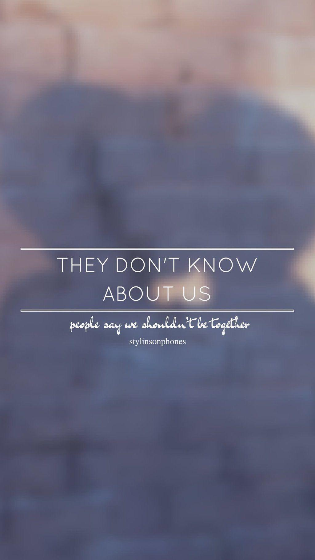 The Don't Know About Us // One Direction // ctto