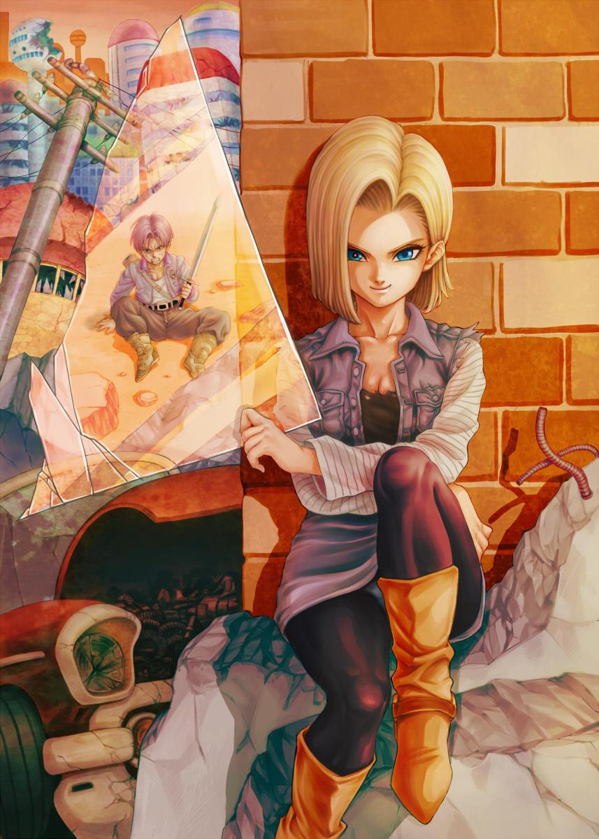 Android 18 And Trunks Wallpapers Wallpaper Cave