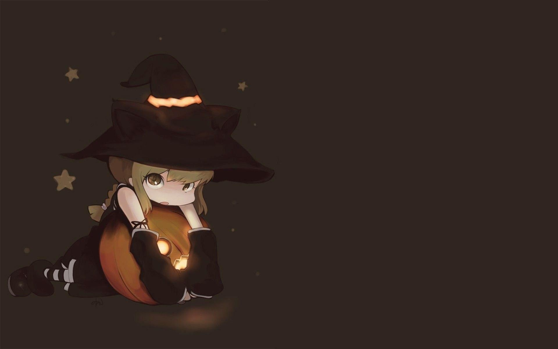 Cute Halloween Anime Girl Wallpapers Wallpaper Cave