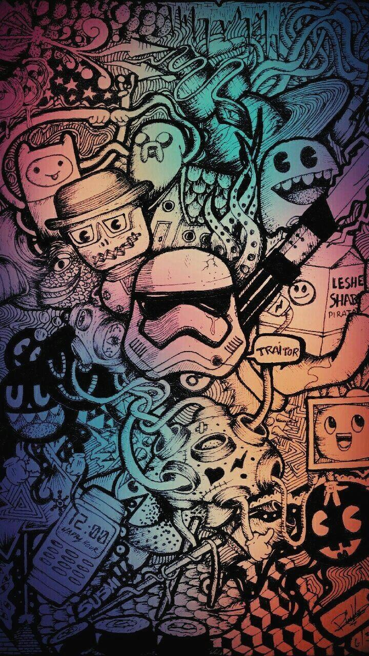 Doodle Drawing Wallpapers Wallpaper Cave