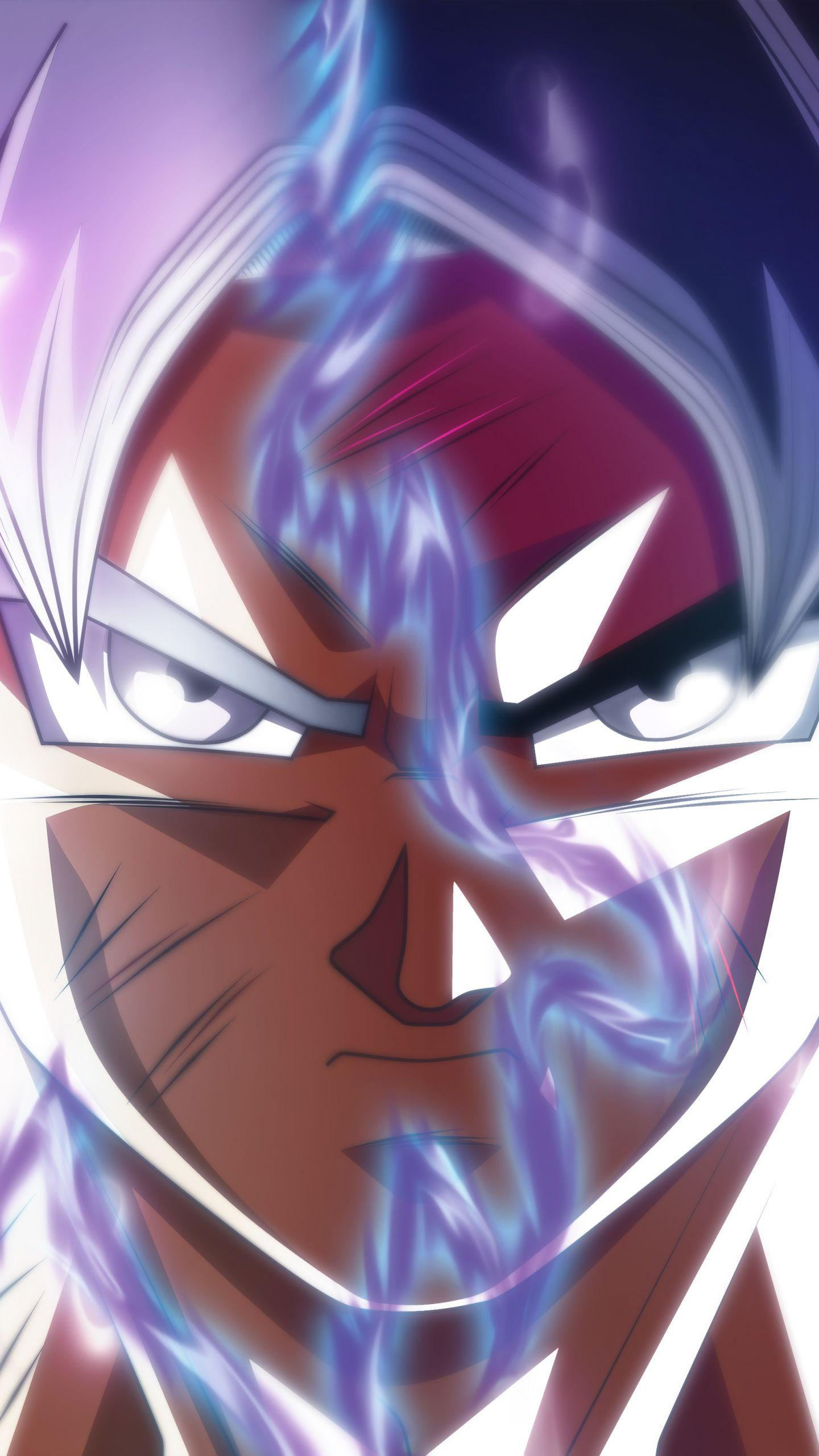 Download 1440x2560 Wallpapers Goku, Face Off, Ultra Instinct