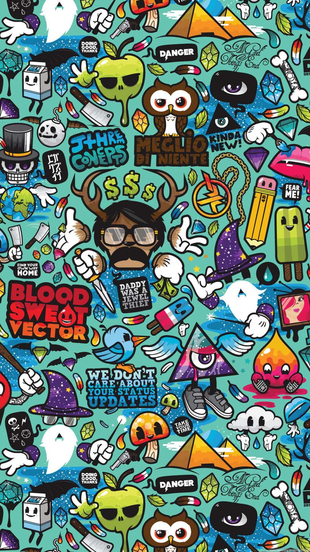 Best Phone Cartoon Wallpapers Wallpaper Cave