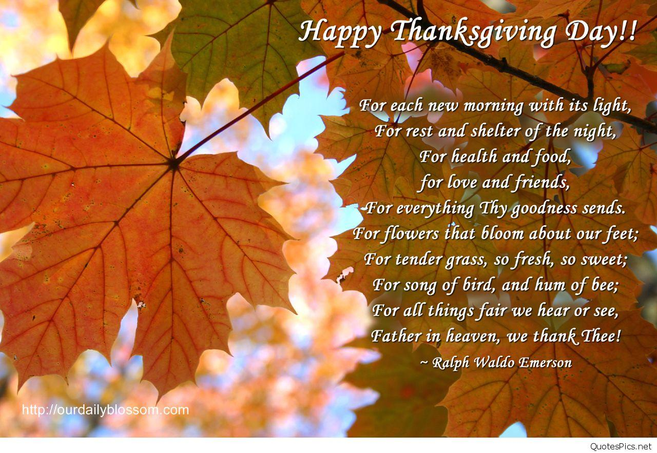 Happy Thanksgiving Quotes & sayings for Family and Friends
