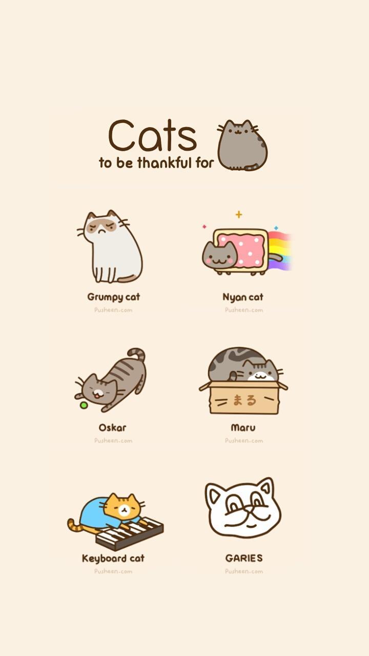 Pastel Kawaii Cat Backgrounds Gambarku