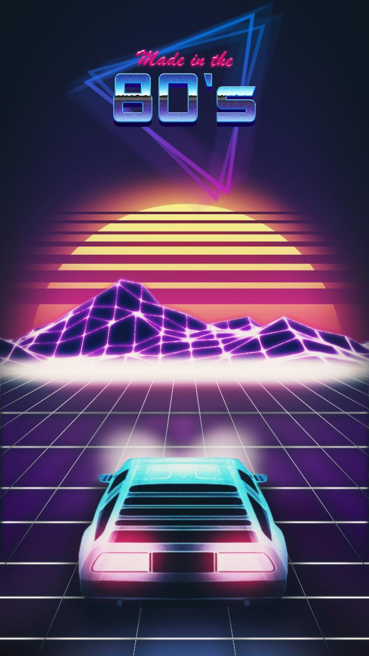 80s Retro Galaxy Wallpapers Wallpaper Cave