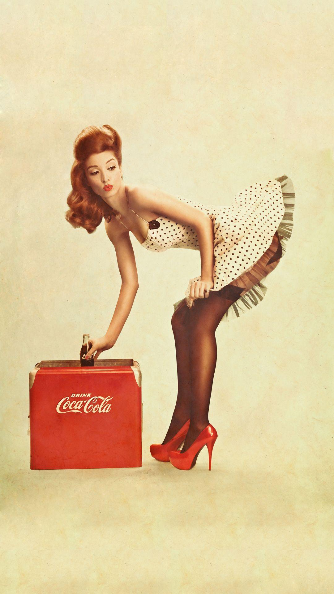 Pin Up Vintage Coca Cola Wallpapers Wallpaper Cave