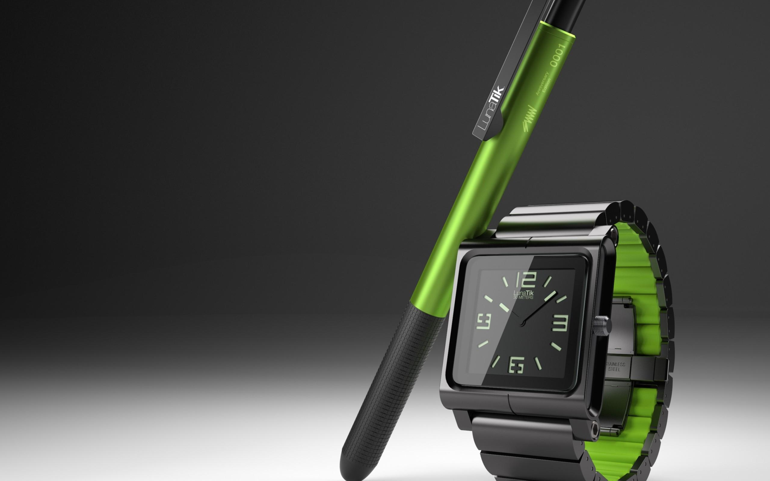 iPod Nano, LunaTik Smartwatch widescreen wallpapers