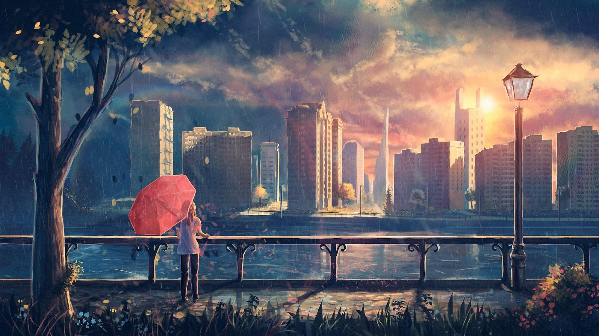 Aesthetic Anime City Wallpapers Wallpaper Cave