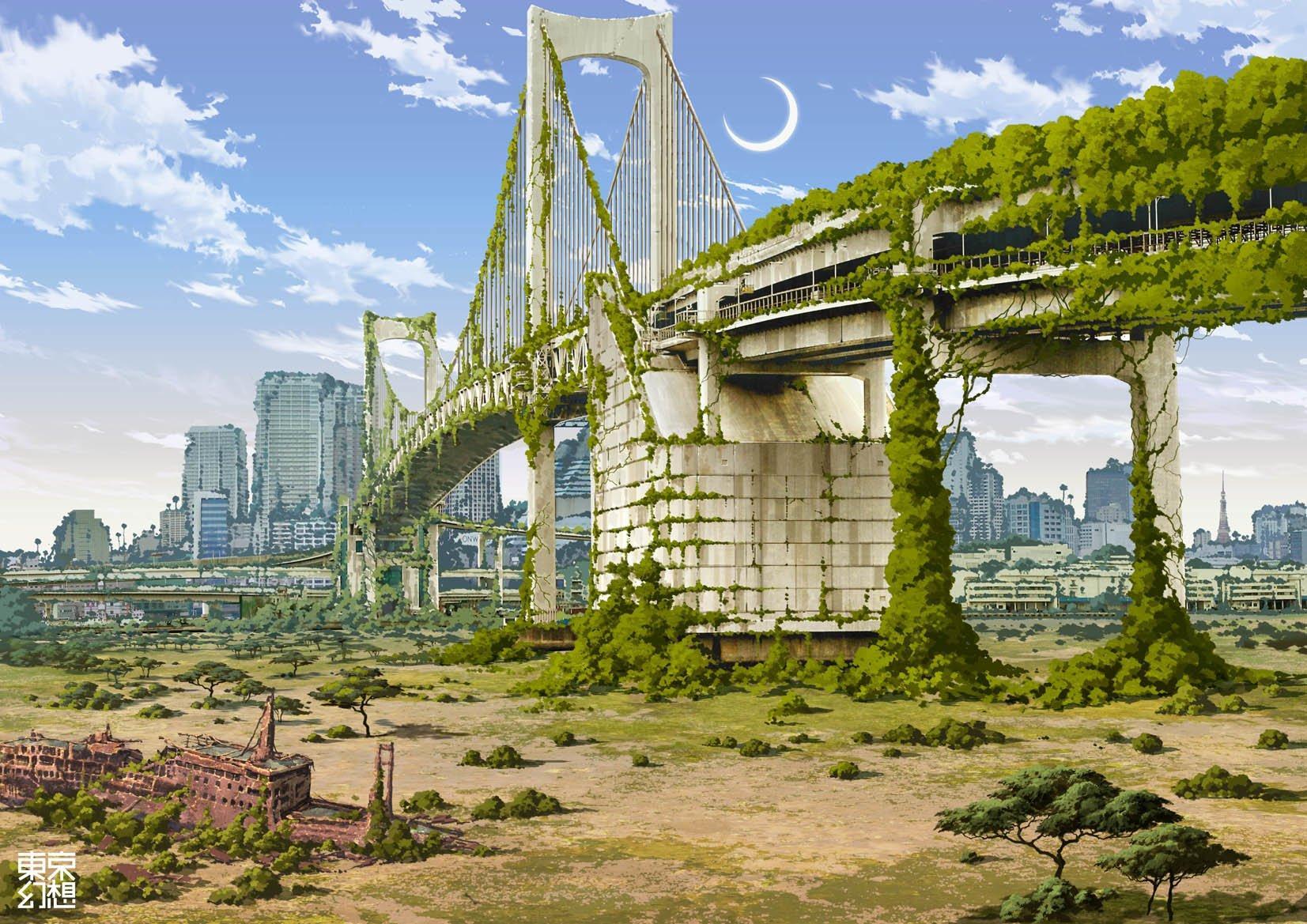 Anime Wallpaper City Background