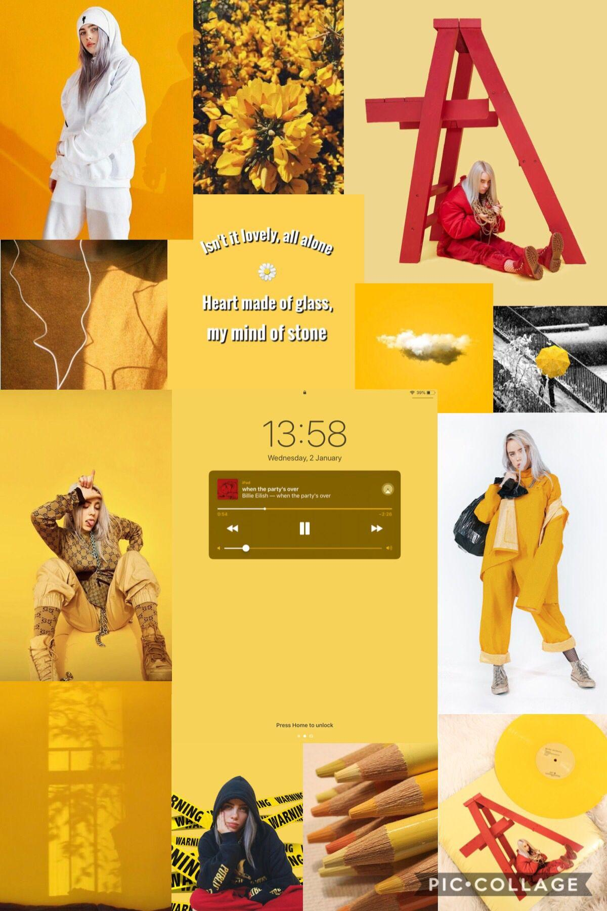 Billie Eilish Yellow Wallpapers Wallpaper Cave