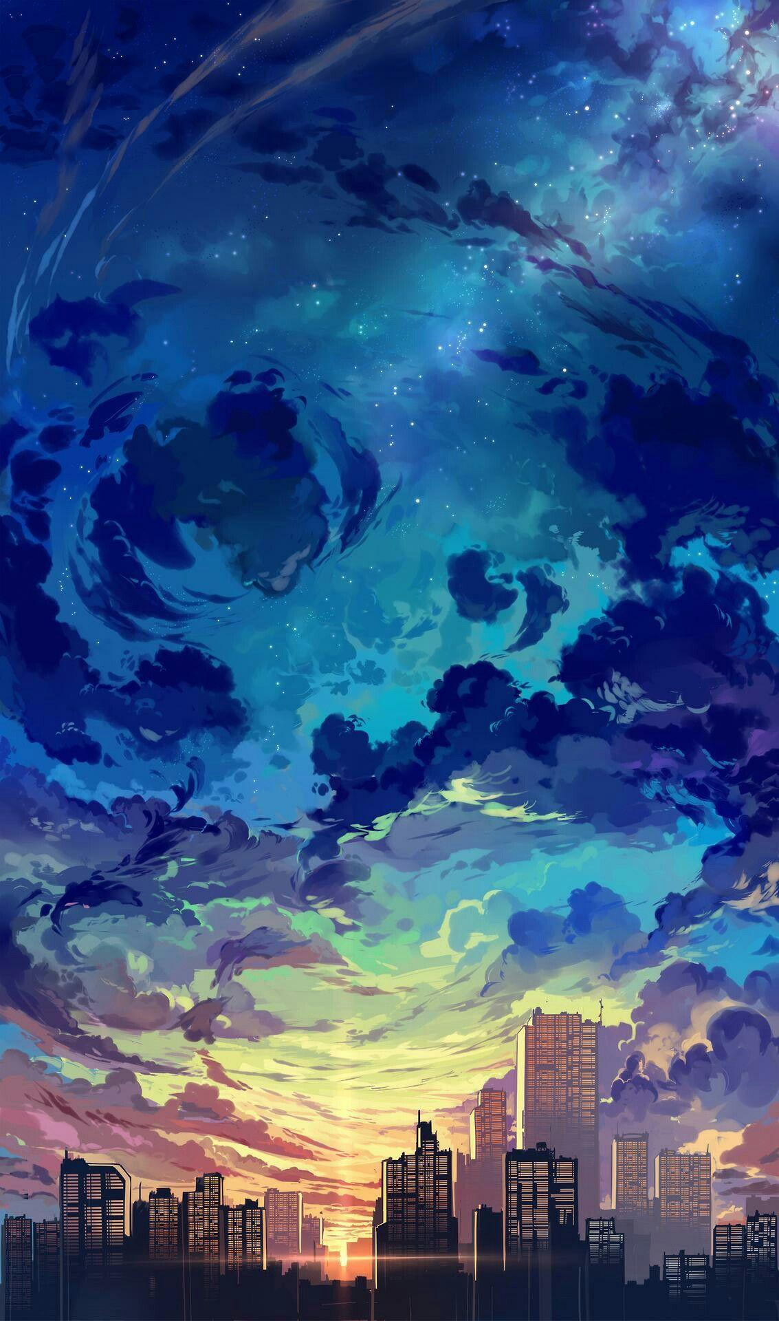 City Anime Android Wallpapers Wallpaper Cave
