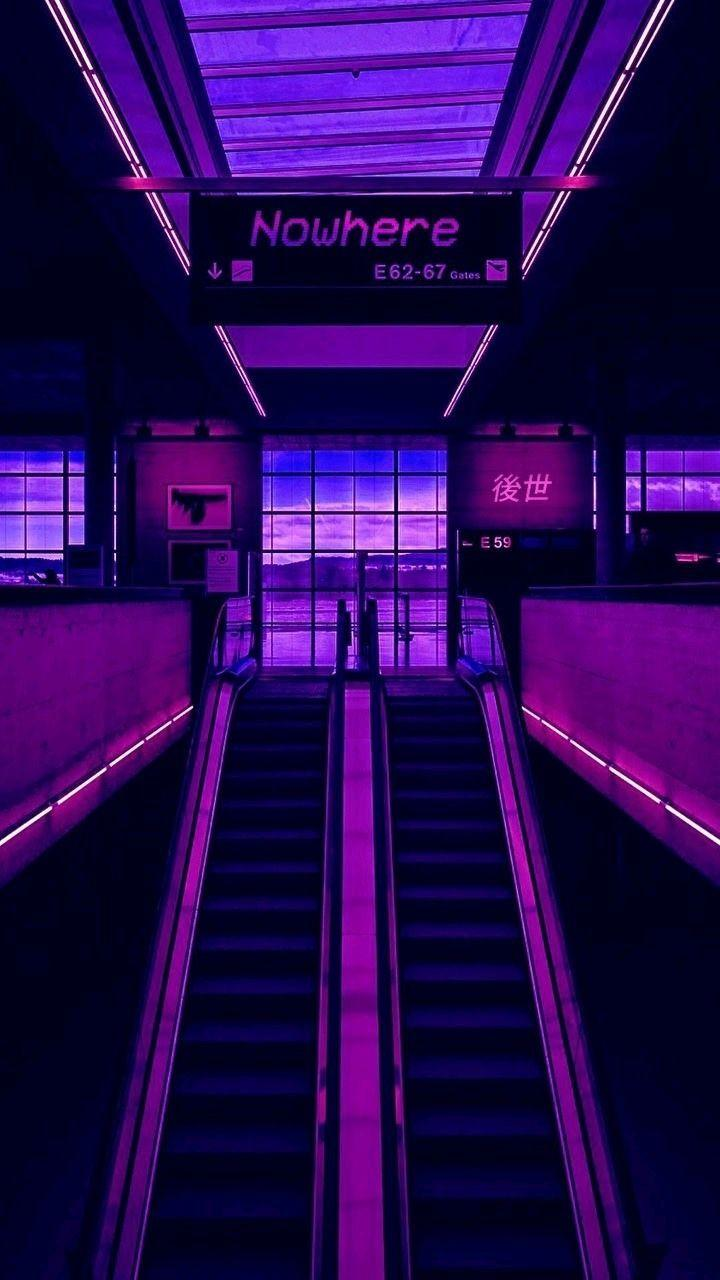 Neon Purple Aesthetic Wallpapers