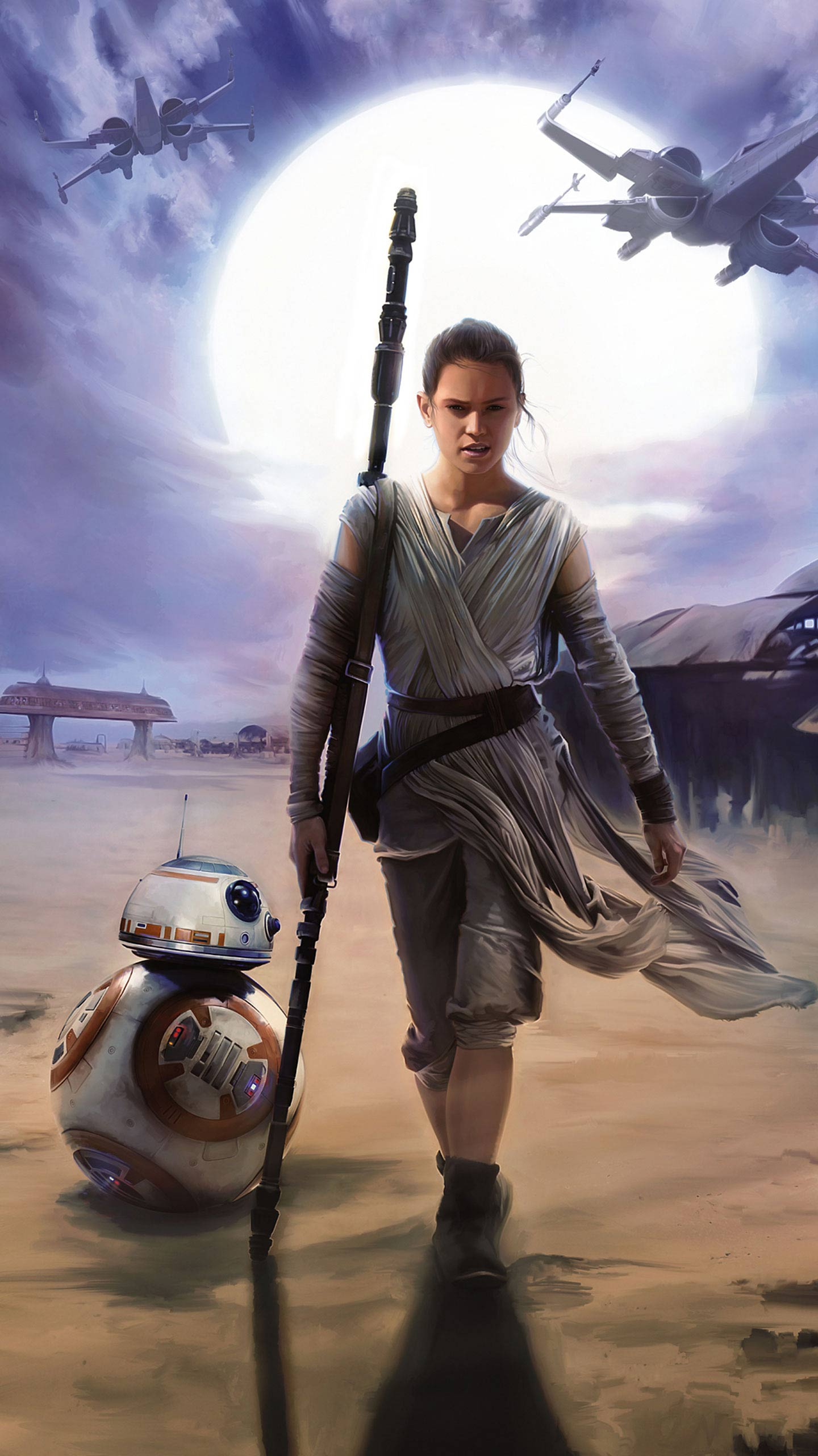Star Wars Rey Hd Mobile Wallpapers Wallpaper Cave