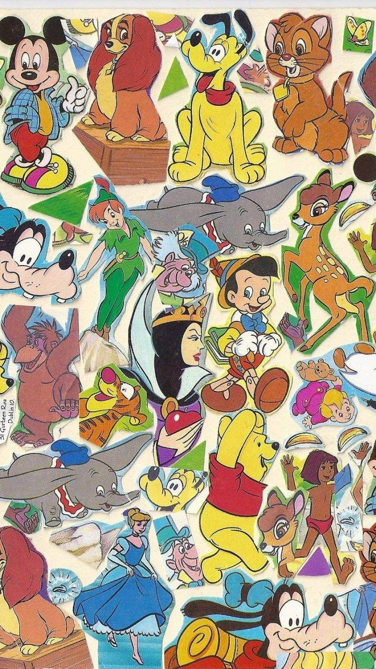 Disney Character Iphone Wallpapers Wallpaper Cave