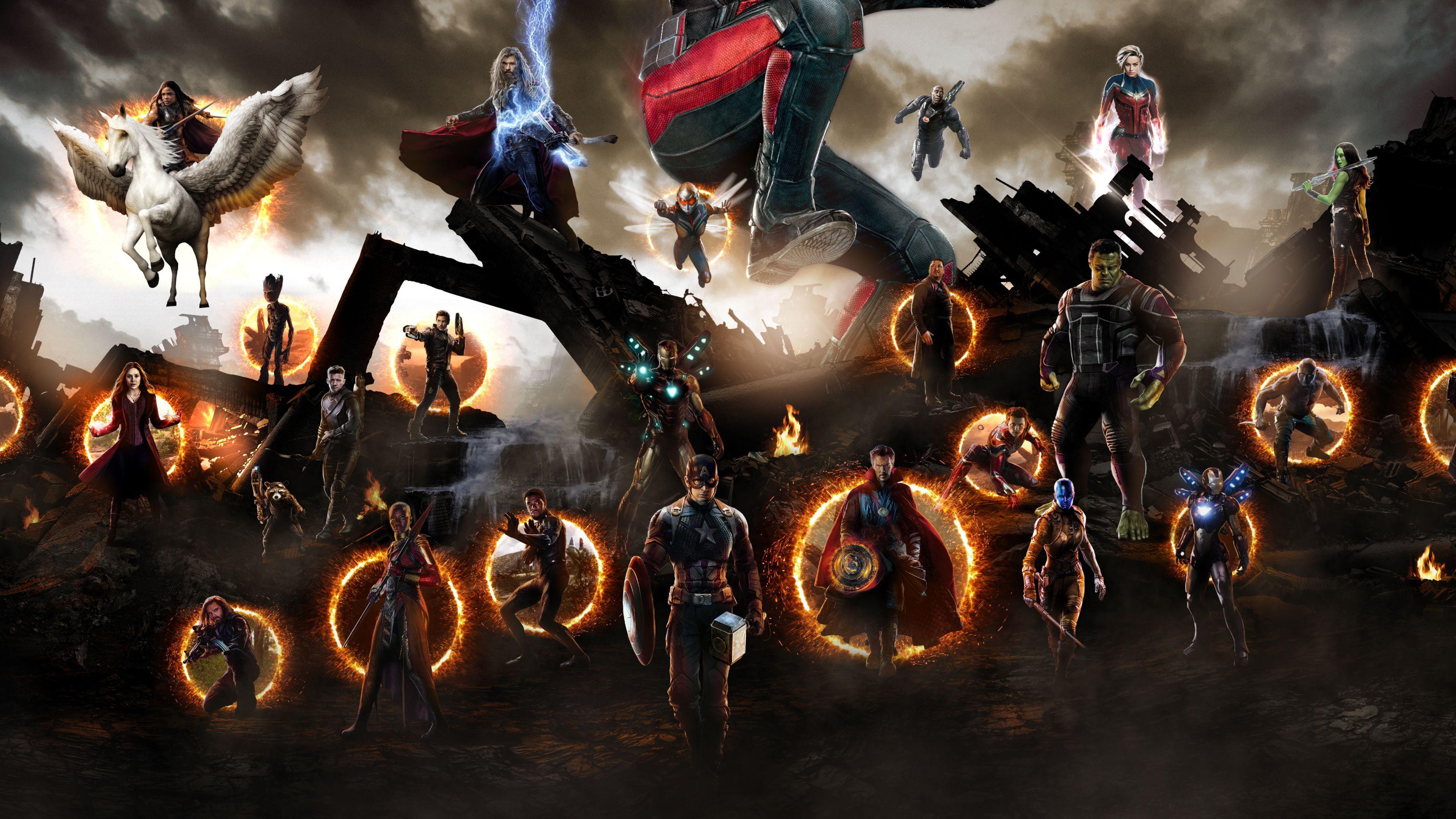 Avengers Endgame Final Battle Wallpapers Wallpaper Cave