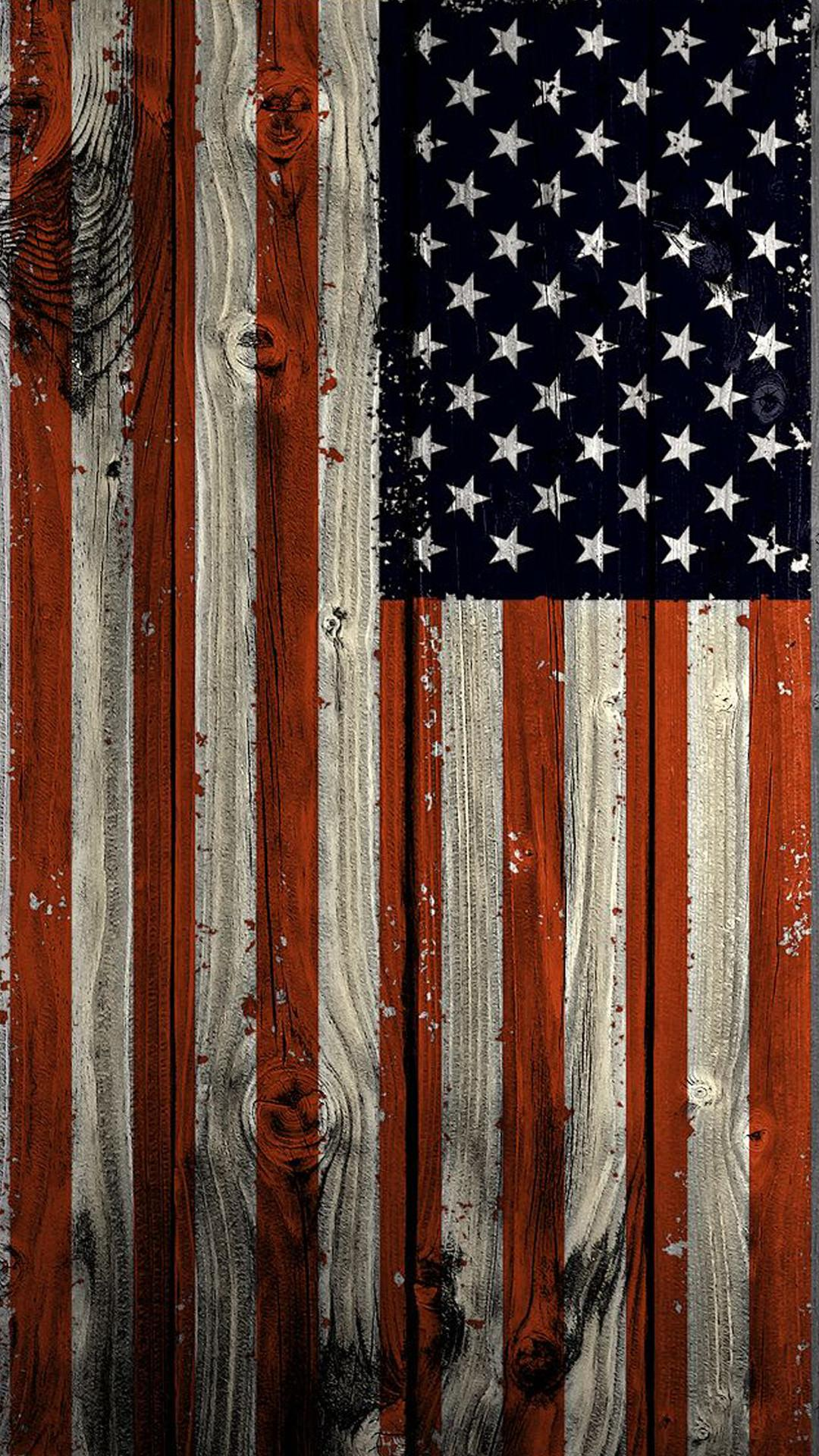 Rustic American Flag Wallpaper - About