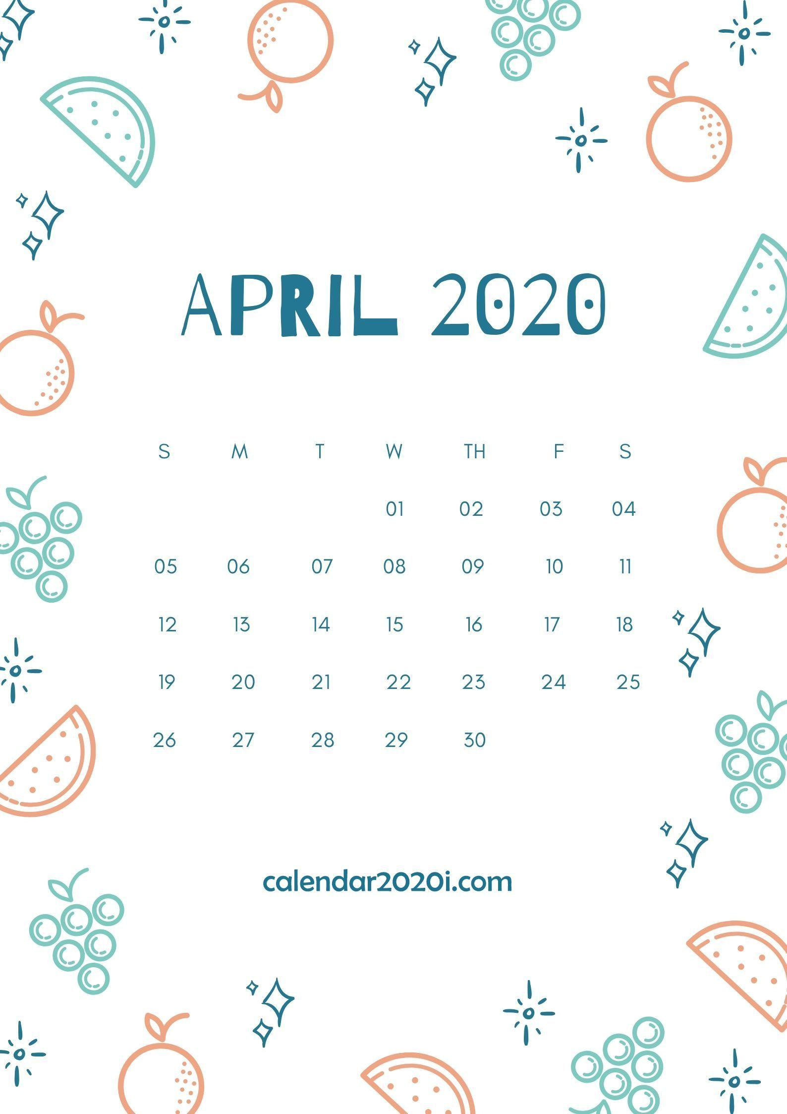April 2020 Calendar Wallpapers Wallpaper Cave