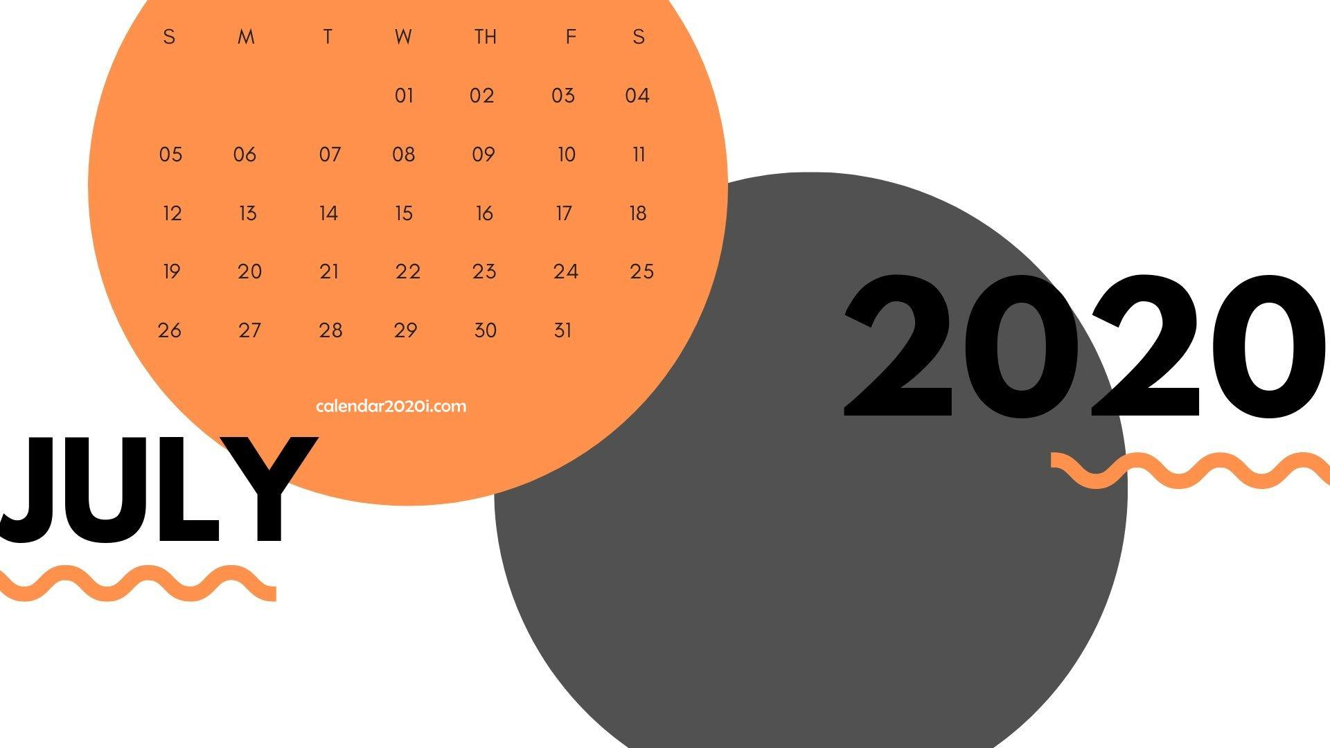July 2020 Calendar Printable Template With Holidays