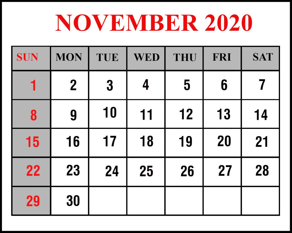 November 2020 Calendar Wallpapers Wallpaper Cave