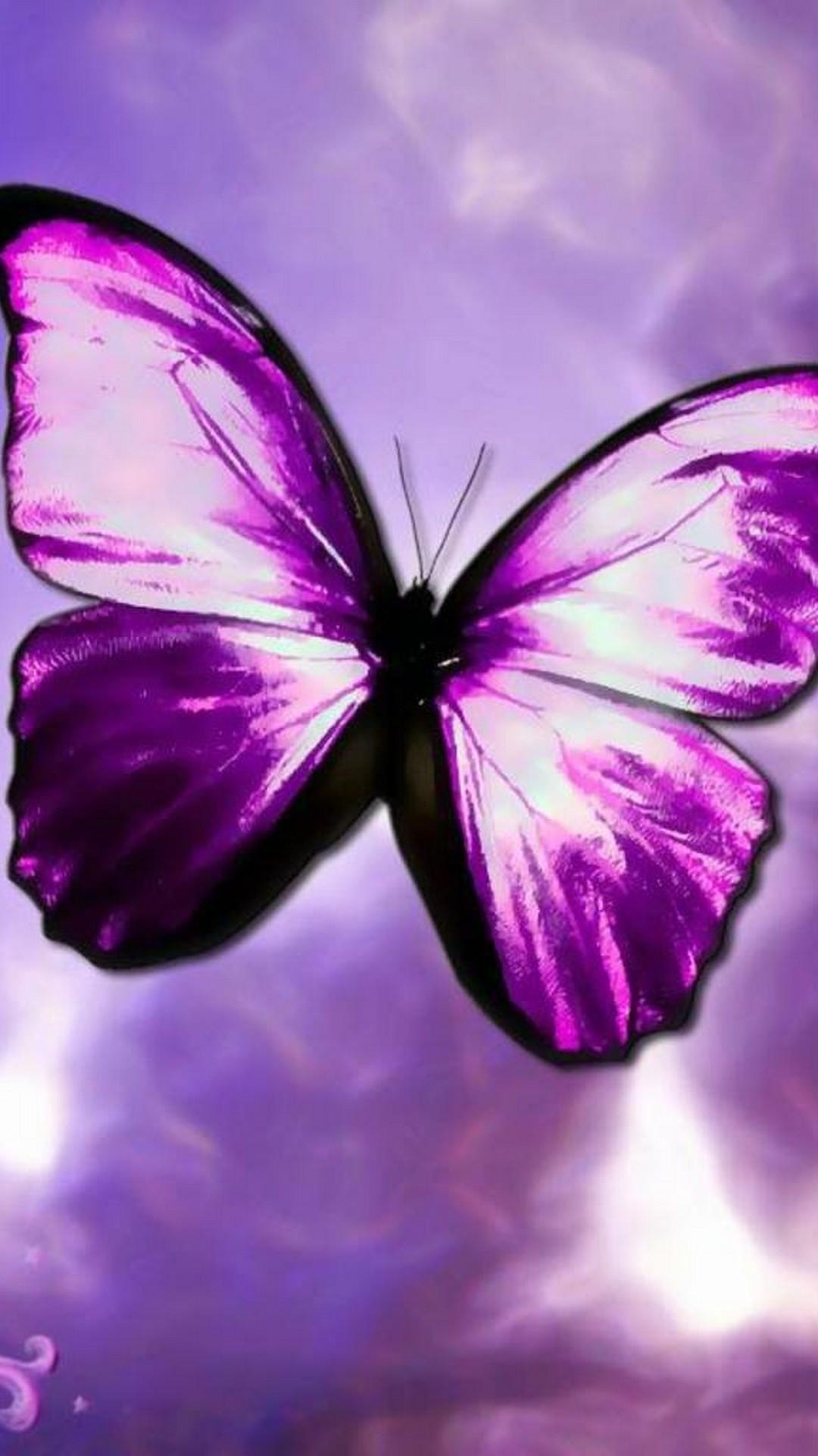 Purple Butterfly Aesthetic Wallpapers - Wallpaper Cave