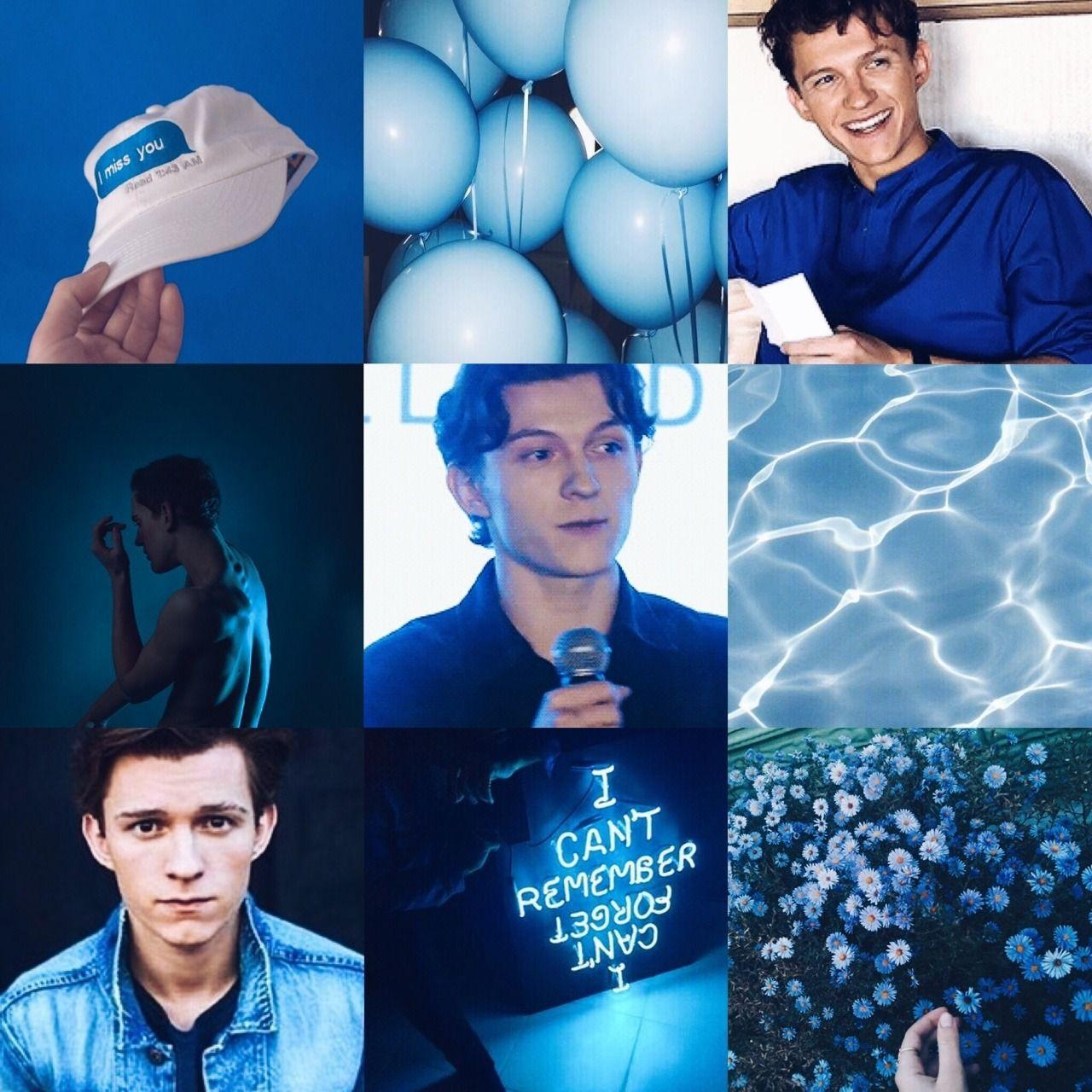 Tom Holland Moodboard: Blue aesthetic 17/? ♡...