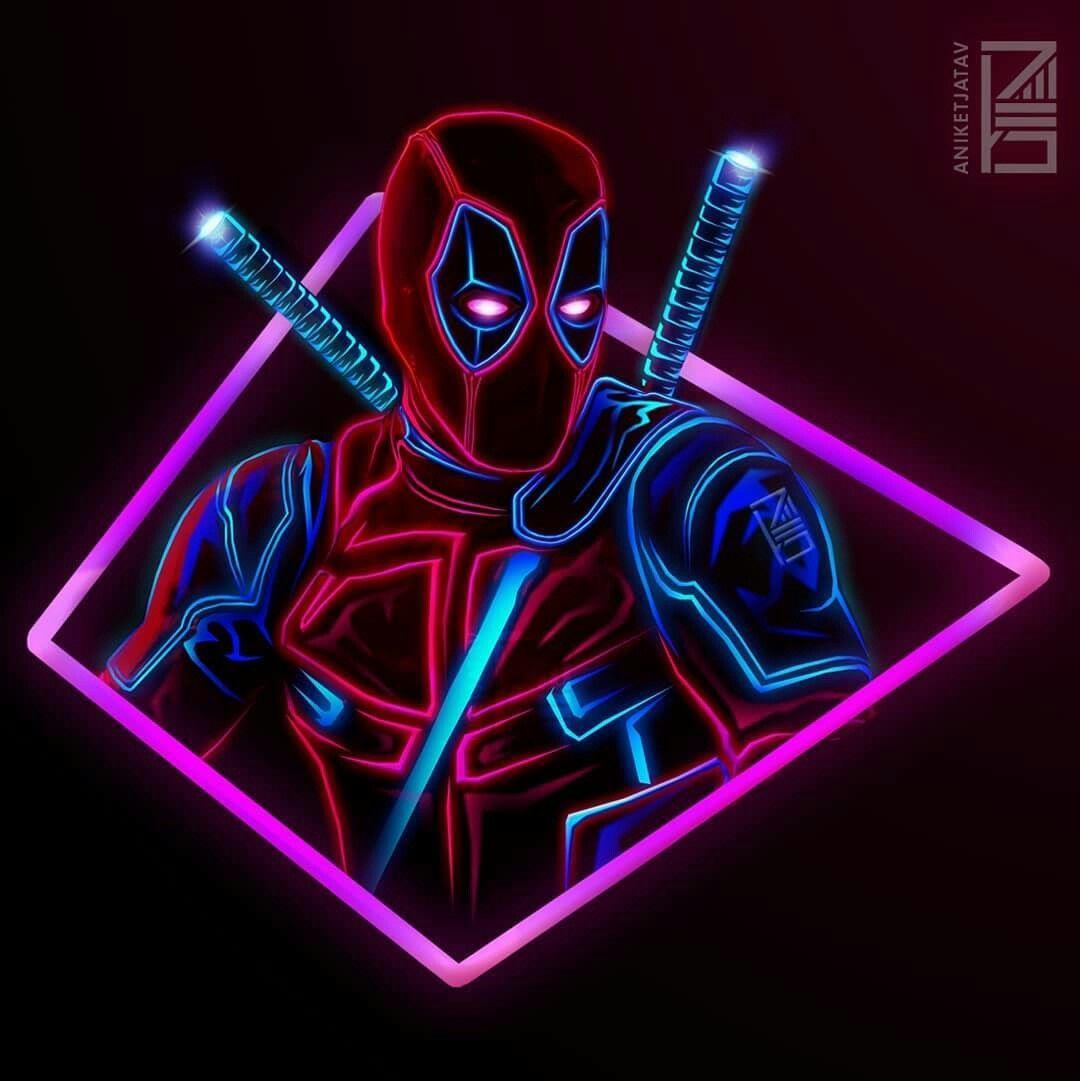 Deadpool Neon Wallpapers Wallpaper Cave