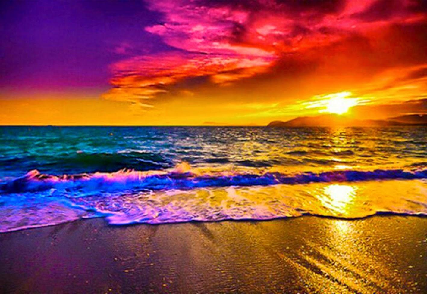 Beach Sunset Rainbow Wallpapers - Wallpaper Cave