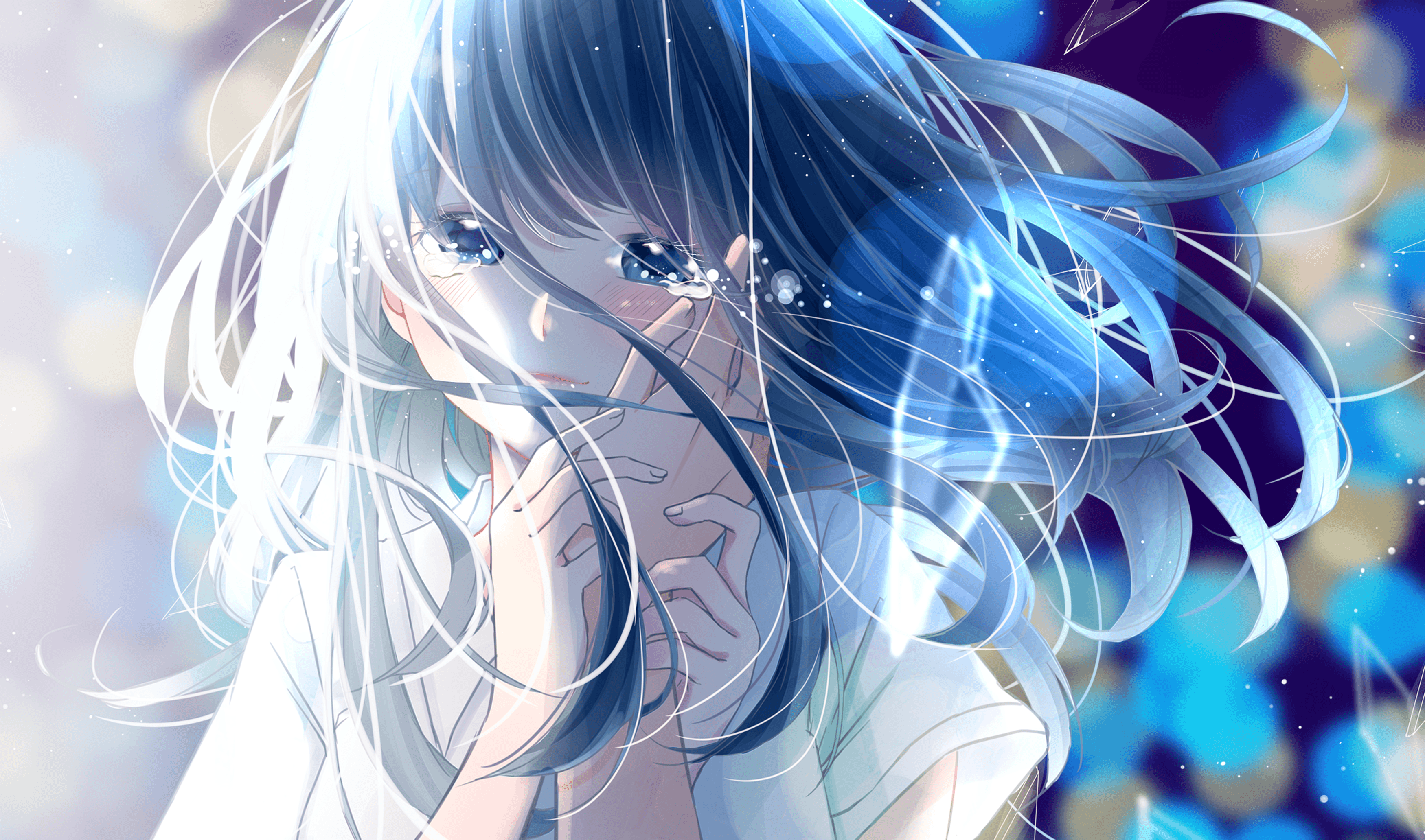 Cute Anime Girl Crying Wallpapers - Wallpaper Cave