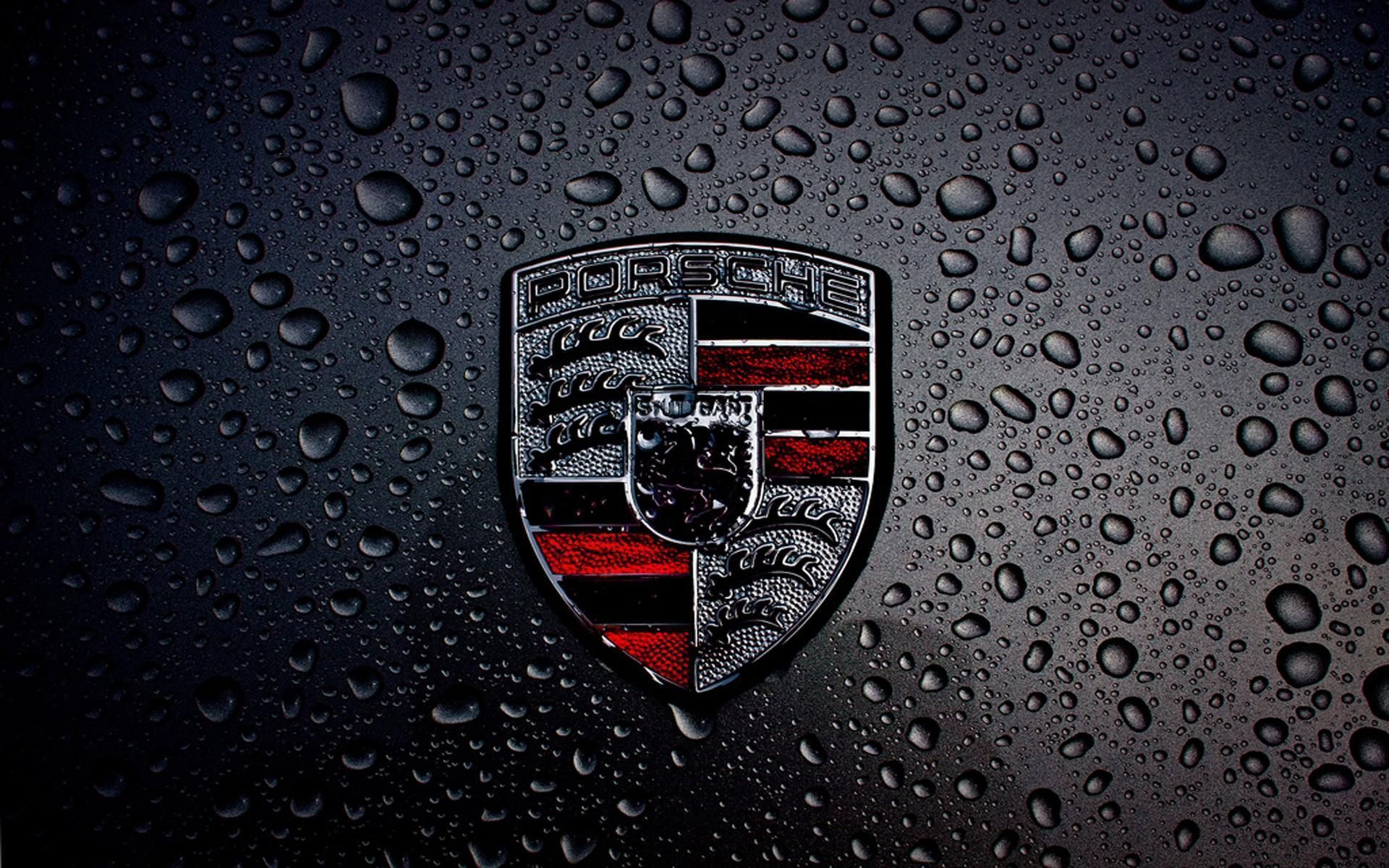 Dark Porsche Logo HD Wallpaper For Desktop And IPad