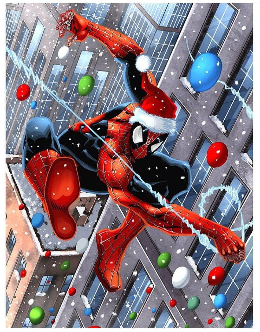 Christmas spiderman